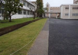 横須賀高校 中庭